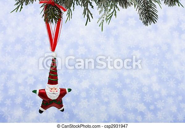 Santa Ornament - csp2931947