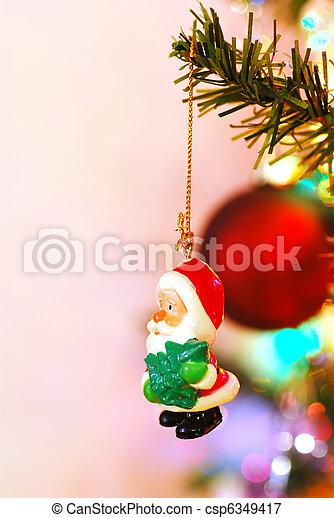 Santa Ornament - csp6349417