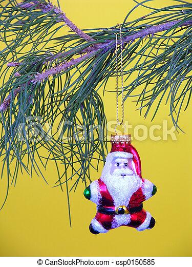 Santa Ornament - csp0150585