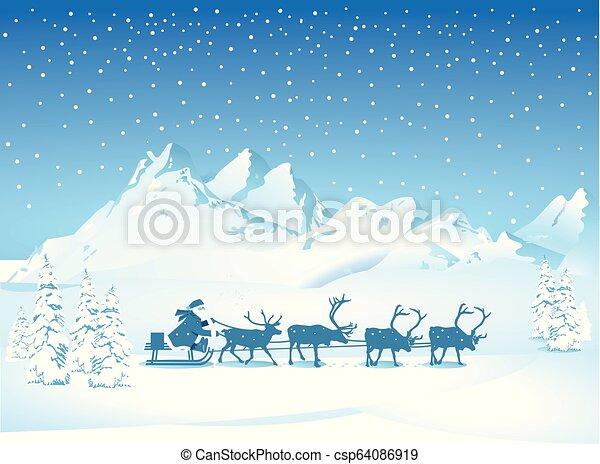 Santa-reise.eps - csp64086919