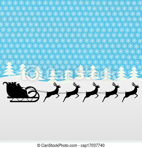 Santa rides a reindeer  - csp17037740