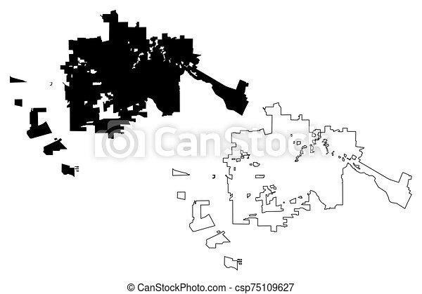 Santa Rosa City (United States cities, United States of America, usa city)  map vector illustration, scribble sketch City of Santa Rosa map