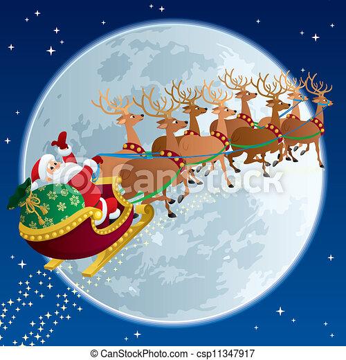Santa Sleigh 2 - csp11347917