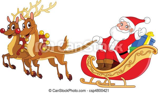 Santa sleigh - csp4800421