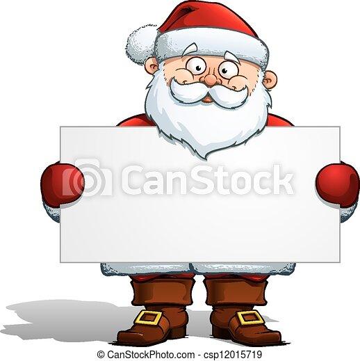 Santa tiene una etiqueta - csp12015719
