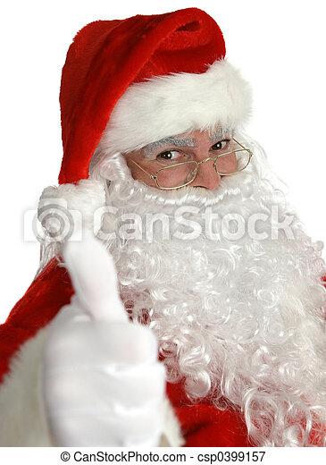 Santa Thumbs Up - csp0399157
