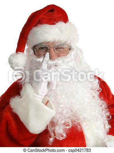 Santa Winks - csp0421783