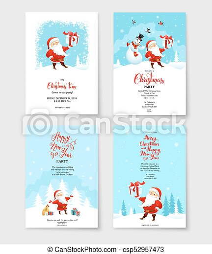 Santa Winter Party Card