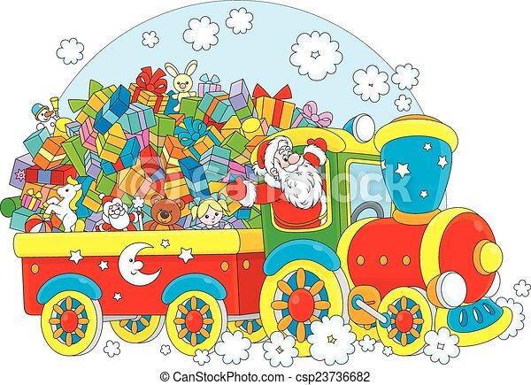 Santa with Christmas gifts - csp23736682