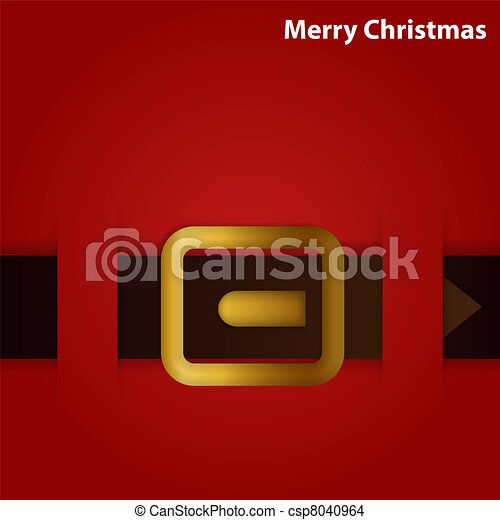Santa's belt - csp8040964