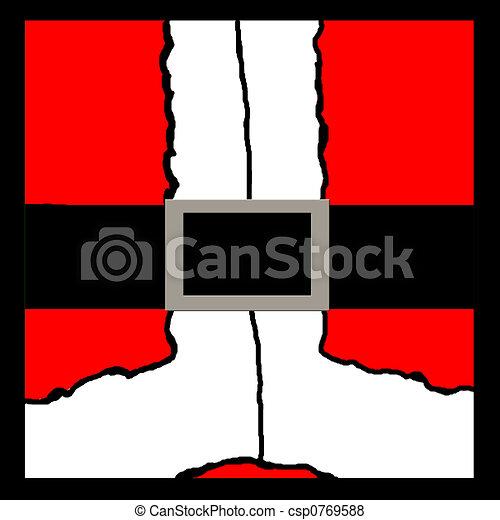 santas buckle an illustration of santas suit and belt Santa Belt Clip Art Bling Santa Clothes Clip Art