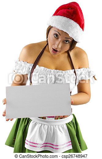 1f7bf337536 Santa's Helper Elf with Blank Sign
