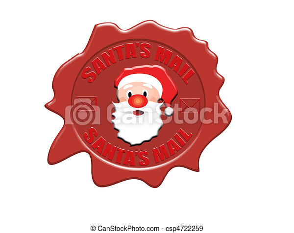 Santa's mail wax seal - csp4722259
