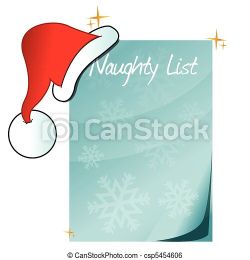 Santa's Naughty List - csp5454606