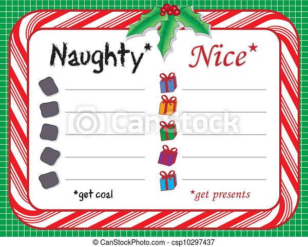 Santa's Naughty or Nice Xmas List - csp10297437