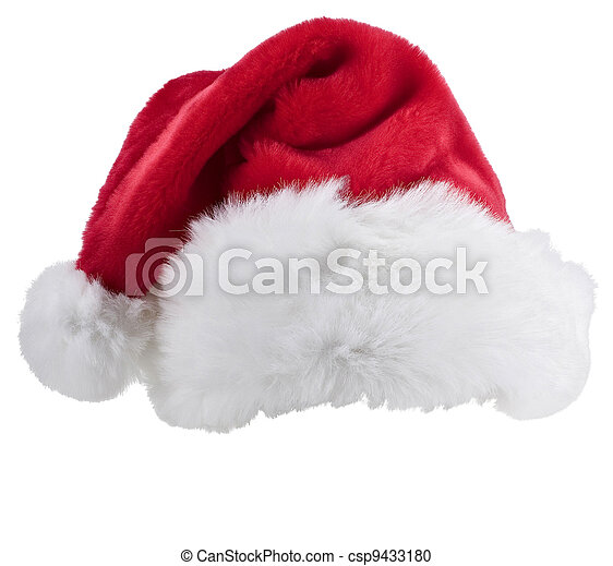 Santa's red hat isolated on white background - csp9433180