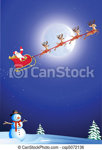 santa's sleigh - csp5072136