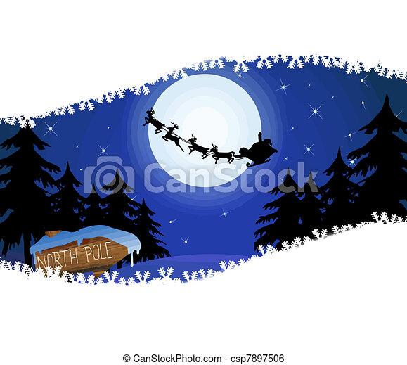 Santa's sleigh - csp7897506