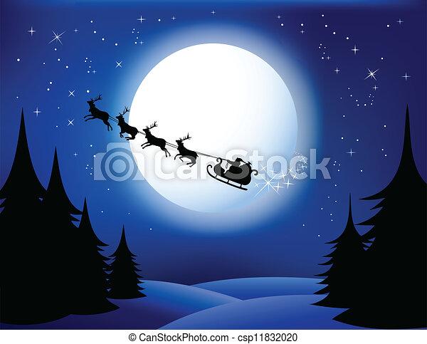 Santa`s sleigh - csp11832020