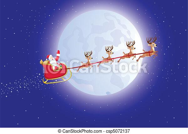 Santa's sleigh - csp5072137