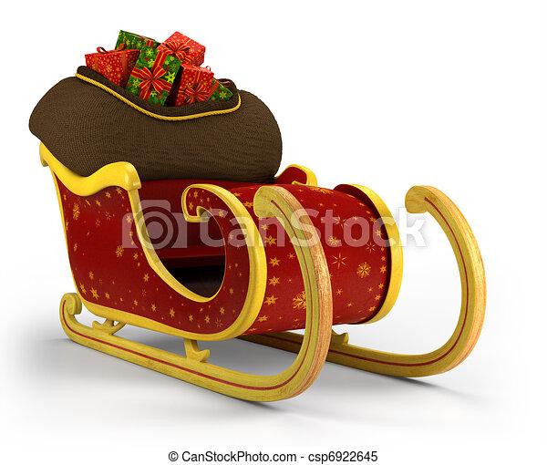 Santa's sleigh - csp6922645