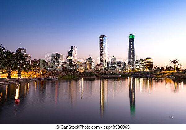 Santiago Chile - csp48386065