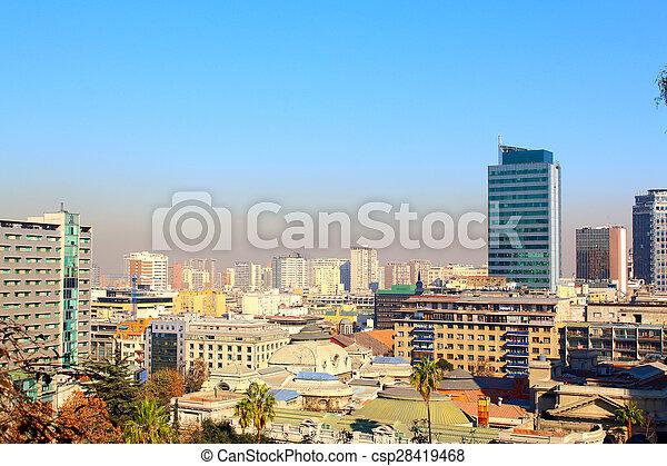 Vista aérea de Santiago de Chile - csp28419468