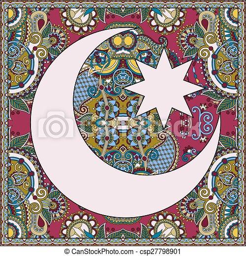 Diseño de alfombras para el santo mes del festival comunitario musulmán Ramada - csp27798901