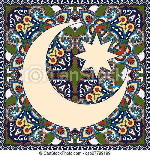 Diseño de alfombras para el santo mes del festival comunitario musulmán Ramada - csp27799199