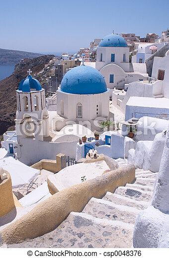 Santorini churches 2 - csp0048376