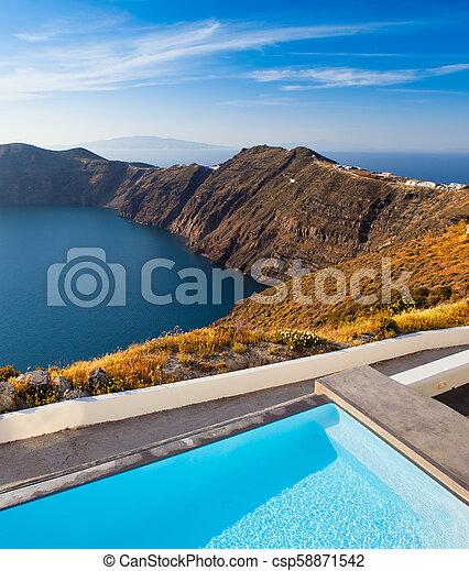 Santorini Cliffs - csp58871542