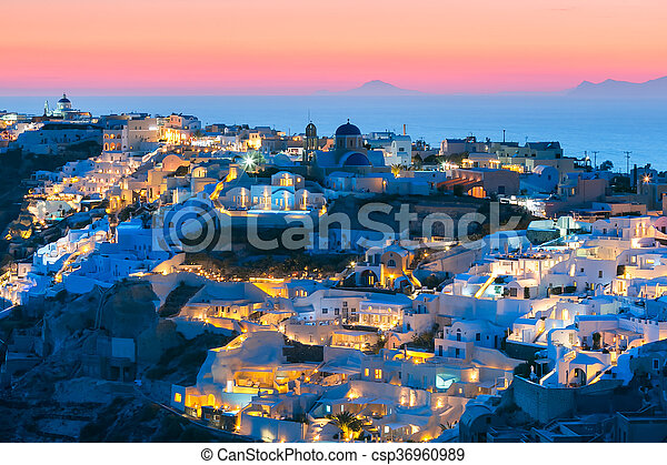 santorini coucher soleil oia gr ce bleu ville vieux coucher soleil pittoresque le. Black Bedroom Furniture Sets. Home Design Ideas