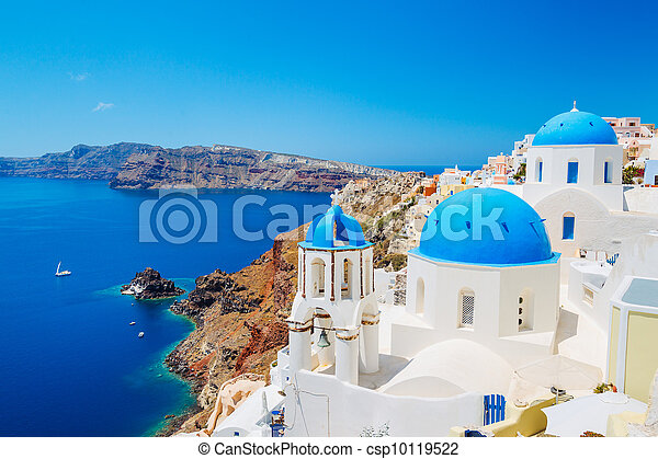 Santorini Island, Greece - csp10119522