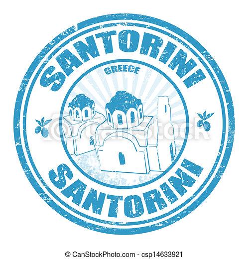 Santorini stamp - csp14633921