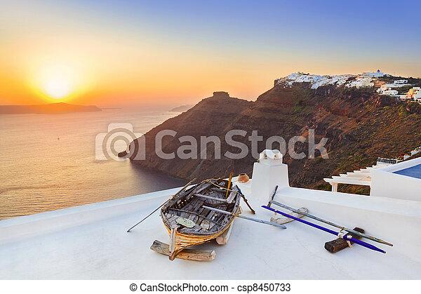 Santorini sunset - Greece - csp8450733