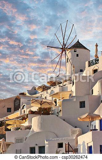 Santorini Windmill at Oia - csp30262474