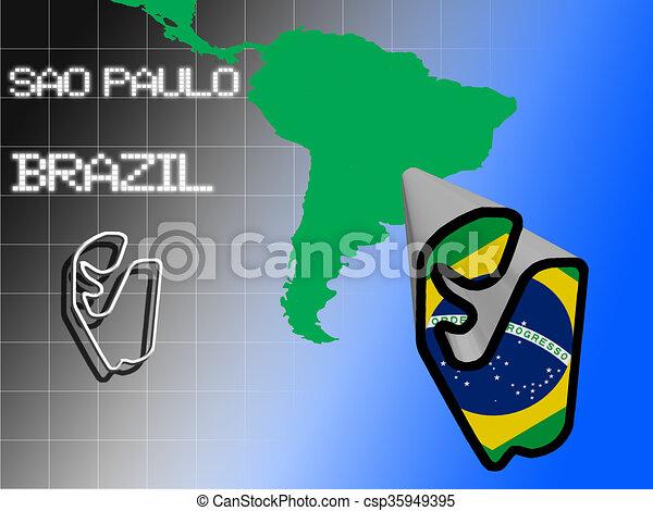 Sao Paulo race track - csp35949395