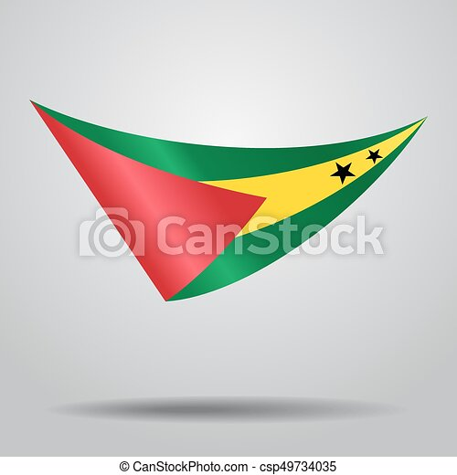 Sao Tome and Principe flag background. Vector illustration. - csp49734035