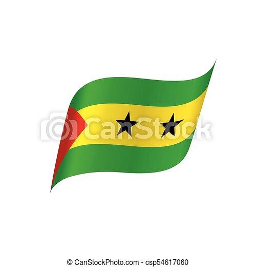 Sao Tome and Principe flag, vector illustration - csp54617060