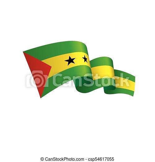 Sao Tome and Principe flag, vector illustration - csp54617055