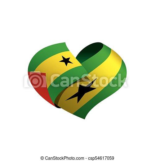 Sao Tome and Principe flag, vector illustration - csp54617059