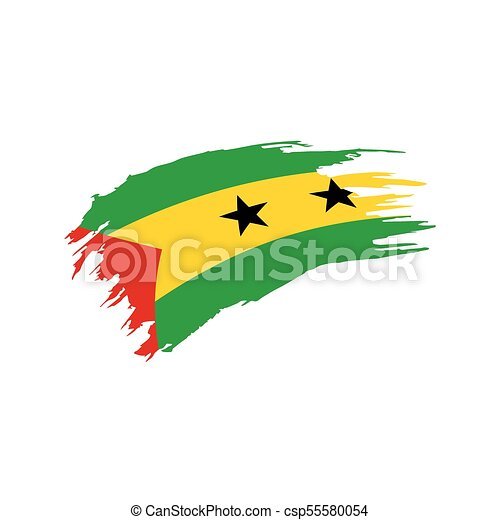 Sao Tome and Principe flag, vector illustration - csp55580054
