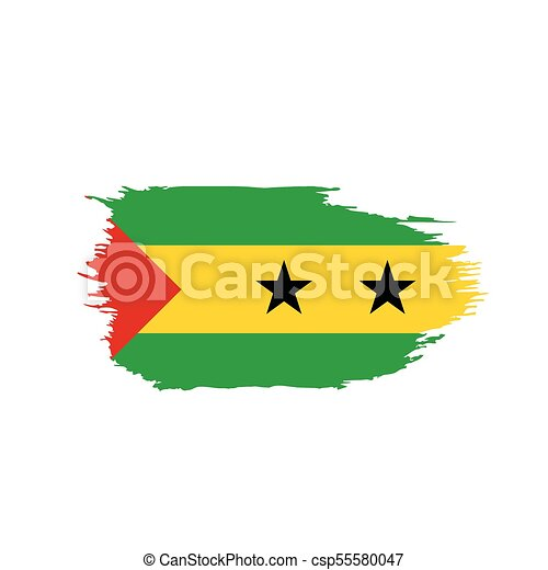 Sao Tome and Principe flag, vector illustration - csp55580047