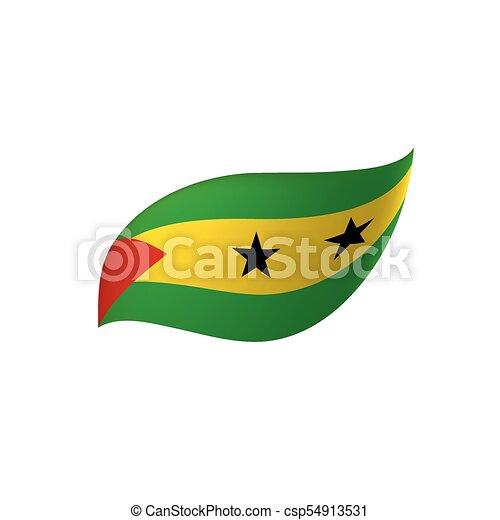 Sao Tome and Principe flag, vector illustration - csp54913531