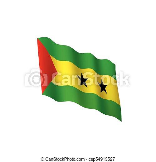 Sao Tome and Principe flag, vector illustration - csp54913527