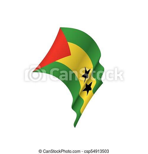 Sao Tome and Principe flag, vector illustration - csp54913503