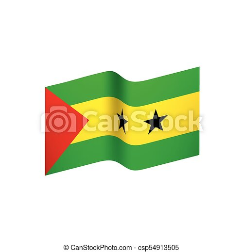 Sao Tome and Principe flag, vector illustration - csp54913505