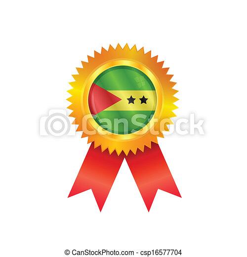 Sao Tome & Principe medal flag - csp16577704