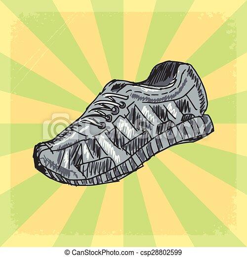 sapatos treino, fundo - csp28802599