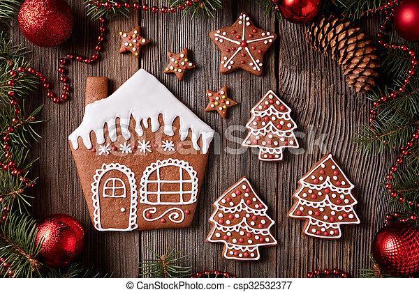 sapin biscuits fait maison bois vendange pain pice maison arbre composition. Black Bedroom Furniture Sets. Home Design Ideas